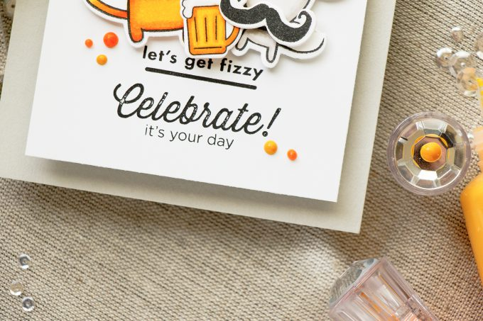 Hero Arts | Wobbler Let's Get Fizzy Funny Cat & Mouse Birthday Card