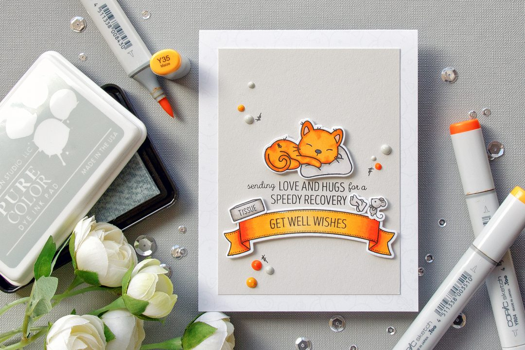 WPlus9 | Sending Love & Hugs For A Speedy Recovery. Get Well Wishes Kitty Card