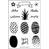 Concord & 9th Pop Art Pineapple Clear Stamp Set