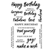 Hero Arts Clear Stamps Birthday Messages