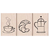 Hero Arts Rubber Stamps Coffee and Croissant
