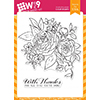 Wplus9 Beautiful Bouquet Ranunculus Stamp Set
