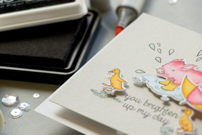 Hero Arts | Front Panel Wobbler Encouragement Card. February My Monthly Hero Blog Hop + Giveaway