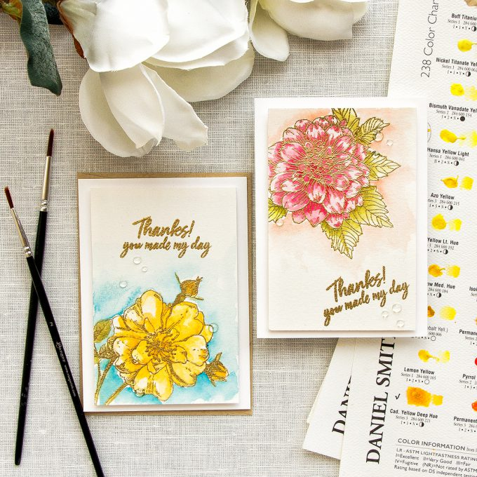 Hero Arts | 4-Bar Watercolor Floral Cards