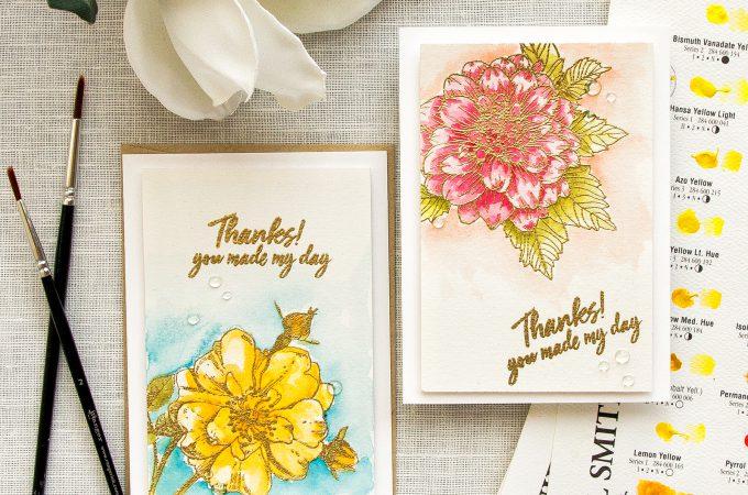 Hero Arts   4-Bar Watercolor Floral Cards