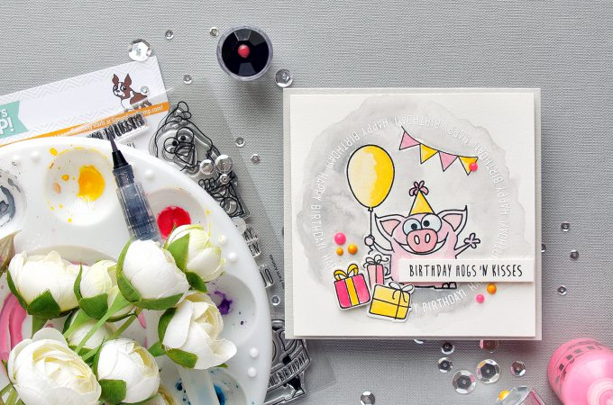 Simon Says Stamp | Piggy Birthday Card - Wishing You Hogs & Kisses