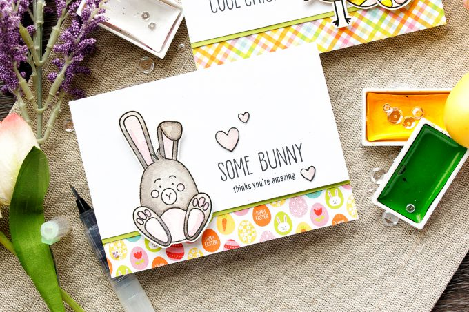 Simon Says Stamp | I Think You're A Cool Chick. Quick watercolor cards – March 2017 Card Kit