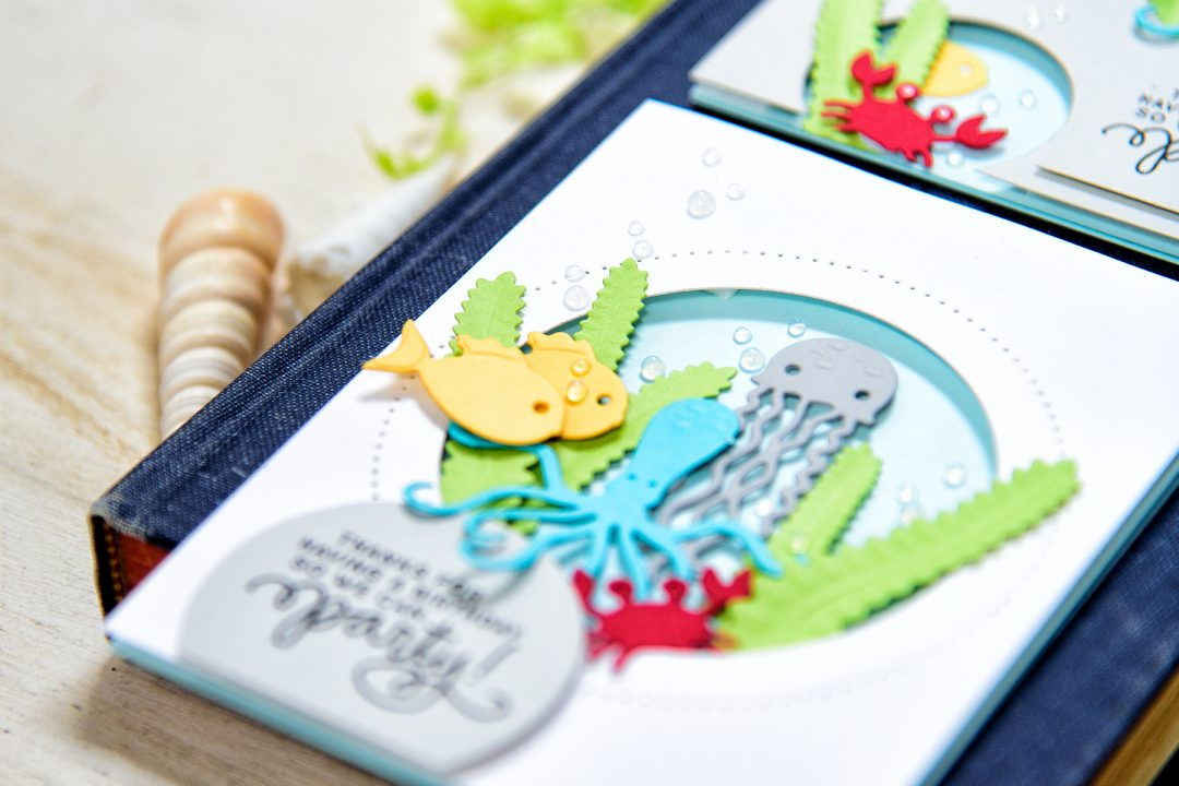 Spellbinders   Birthday Party Card with Sea Animals. Video