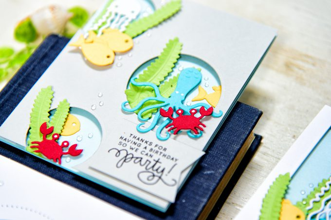 Spellbinders | Birthday Party Card with Sea Animals. Video
