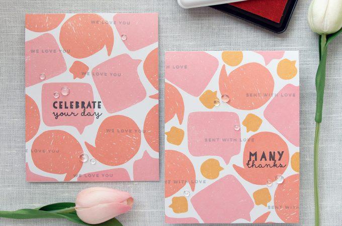 Winnie & Walter | One Layer Speech Bubble Cards