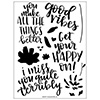 Concord & 9th Fill-in Phrases Clear Stamp Set