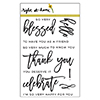 Right at Home Script Greetings Clear Stamp