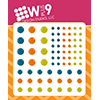 WPlus9 Enamel Dots - Autumn Splendor Blue