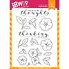 WPlus9 Modern Petunias Stamp Set