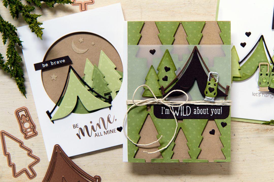 Spellbinders   1 Die Set - 3 Ways. Love You Cards for Guys!