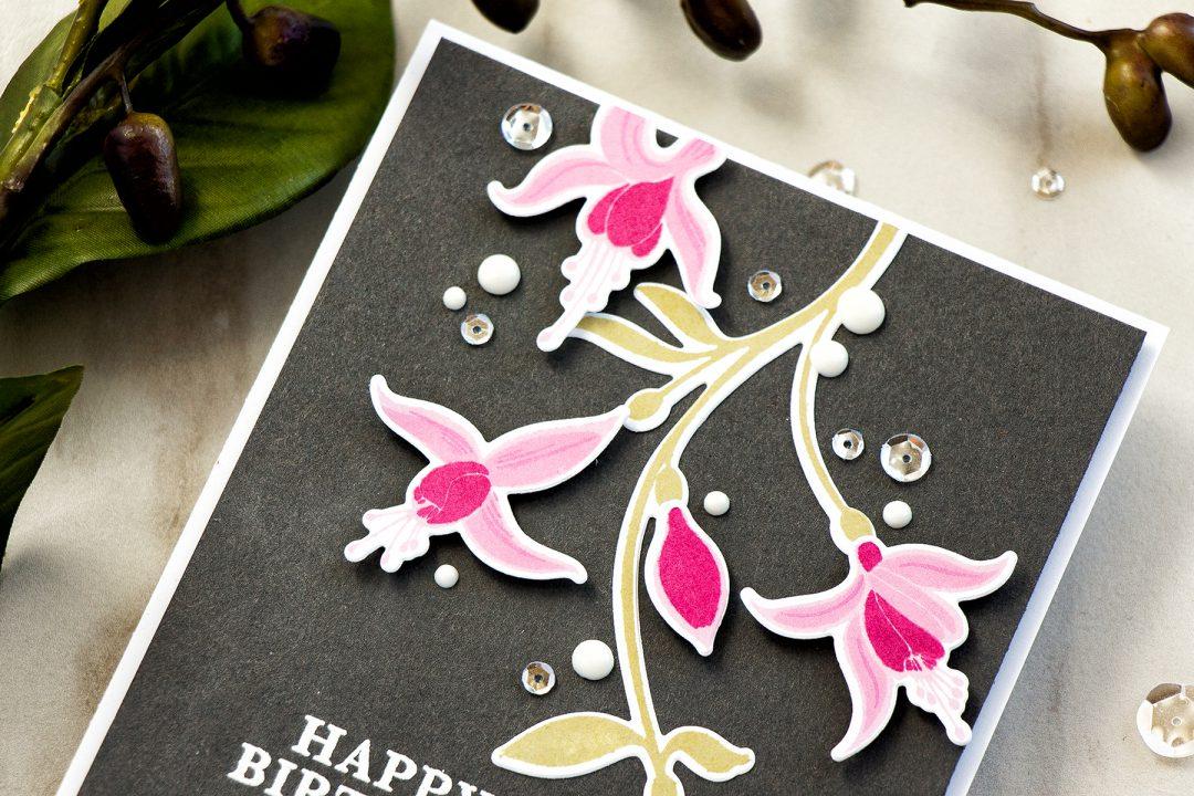 Hero Arts | Color Layering Fuchsia Happy Birthday Card