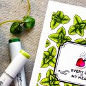 Hero Arts | My Monthly Hero March 2017 Kit - Every Beet Of My Heart Card with Mint Copic Colored Background by Yana Smakula