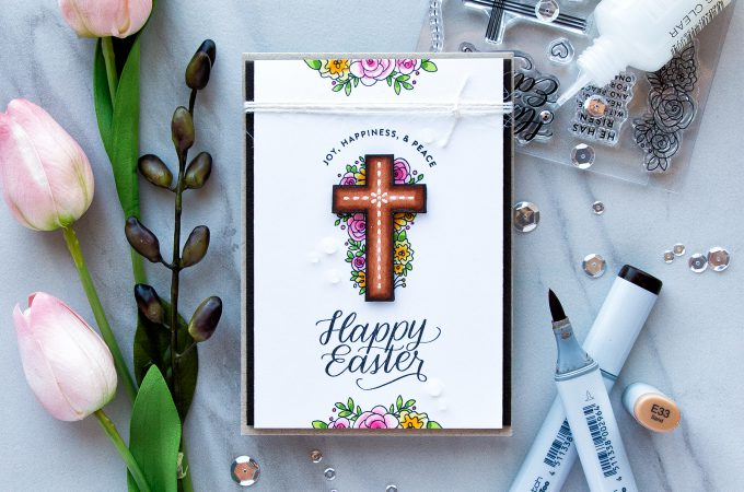 Simon Says Stamp | Happy Easter 4 Bar Card by Yana Smakula