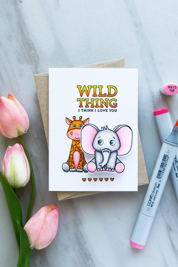 Simon Says Stamp   Wild Thing - I Think I Love You. April 2017 Card Kit