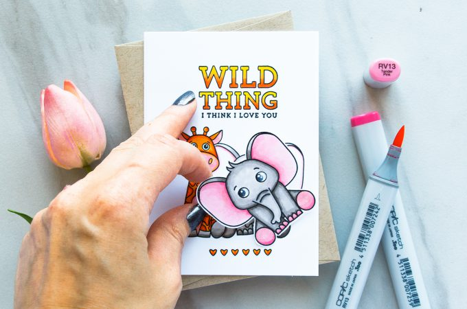 Simon Says Stamp | Wild Thing - I Think I Love You. April 2017 Card Kit