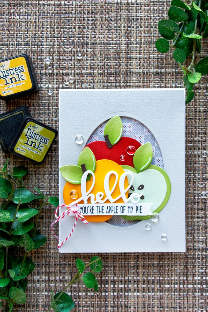 Spellbinders | Market Fresh Collection by Debi Adams. Hello - You're The Apple Of My Pie card by Yana Smakula using Apple A Day Dies