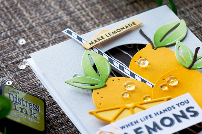 Spellbinders | Market Fresh Collection by Debi Adams. When Life Gives You Lemons - Make Lemonade card by Yana Smakula using Make Mine Lemon Lime Dies
