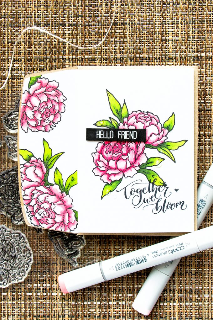 Studio Katia | Together We Bloom Handmade Card by Yana Smakula