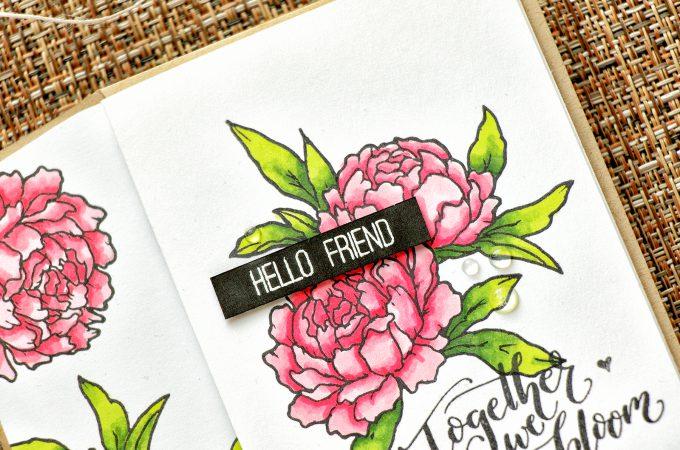 Studio Katia | Together We Bloom Handmade Card by Yana Smakula