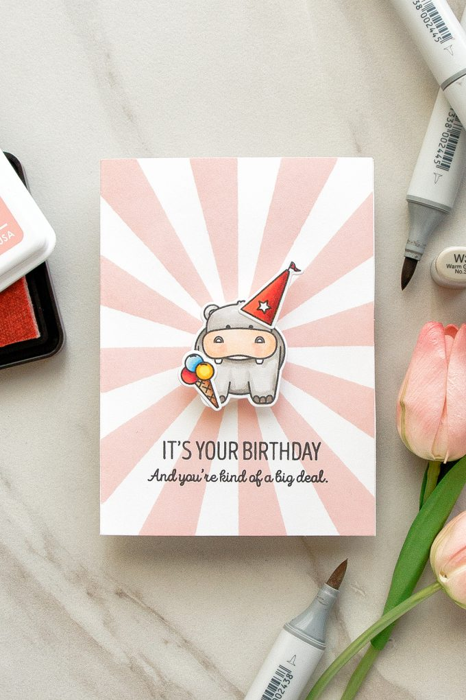 WPlus9 | Big Deal Hippo Wobbler Birthday Card by Yana Smakula