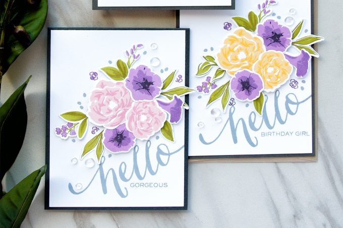 WPlus9 | Petunias and Peonies Cards