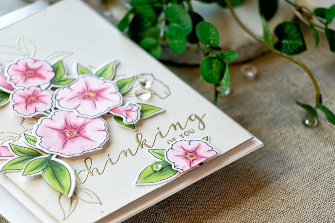 WPlus9 | Modern Petunias Card by Yana Smakula