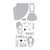 Hero Arts Dress Up Stamp & Cut DC211