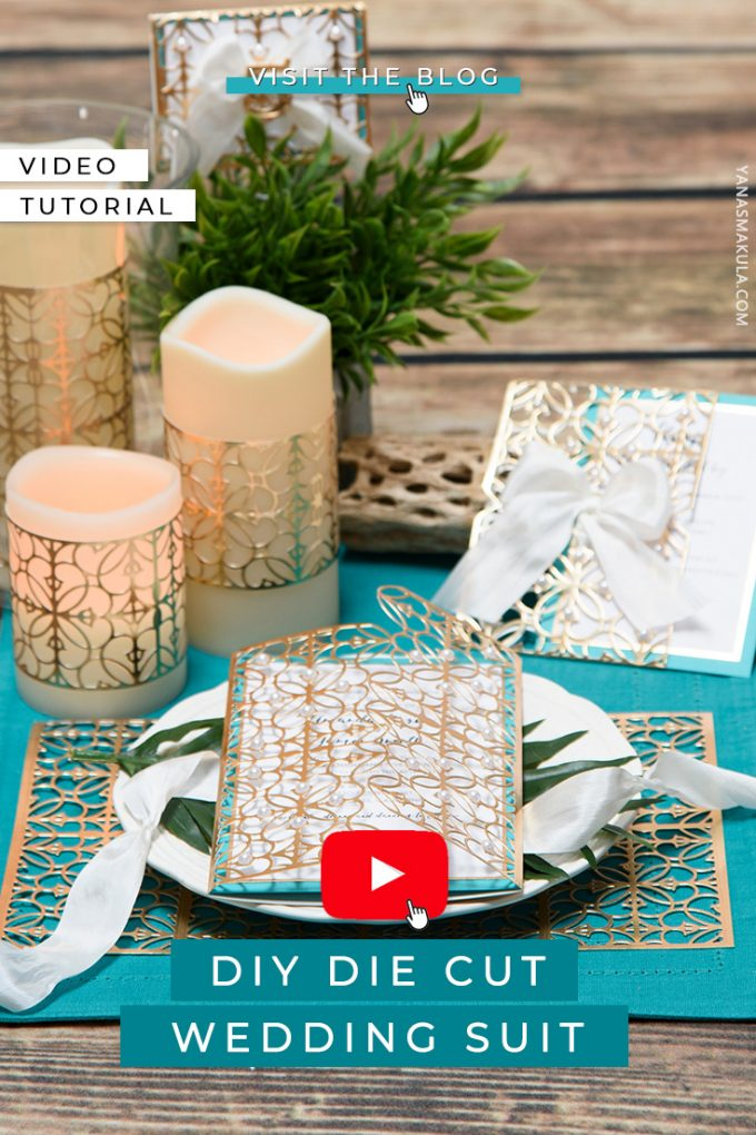Spellbinders | Wedding Inspiration with Vintage Elegance Collection. Video tutorial by Yana Smakula. DIY Die Cut Wedding Suit featuring Spellbinders Becca Feeken Filigree Booklet Dies S5-289 #spellbinders #neverstopmaking #diecutting #weddingstationery