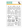 Simon Says Clear Stamps Mom and Dad Icons