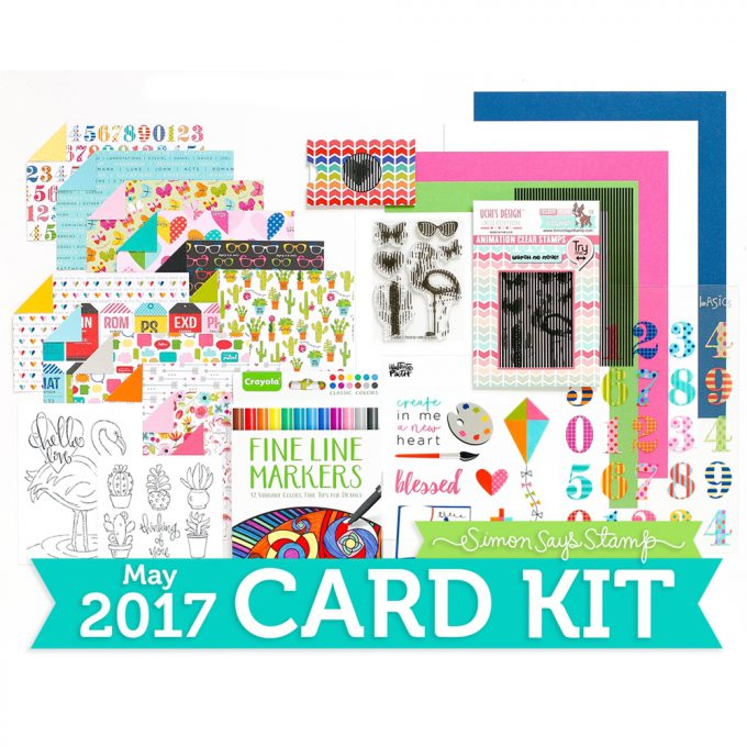 Simon Says Stamp Card Kit of The Month MAY 2017 ANIMATION CK0517-1