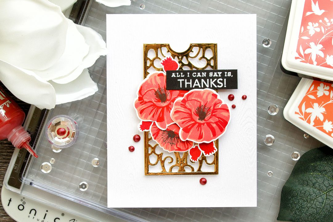 Hero Arts | Color Layering Poppies Thank You Card