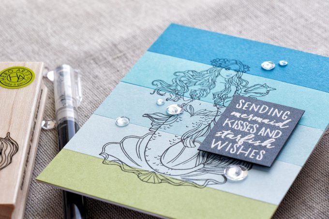 Hero Arts | Mermaid Kisses. May My Monthly Hero Blog Hop + Giveaway