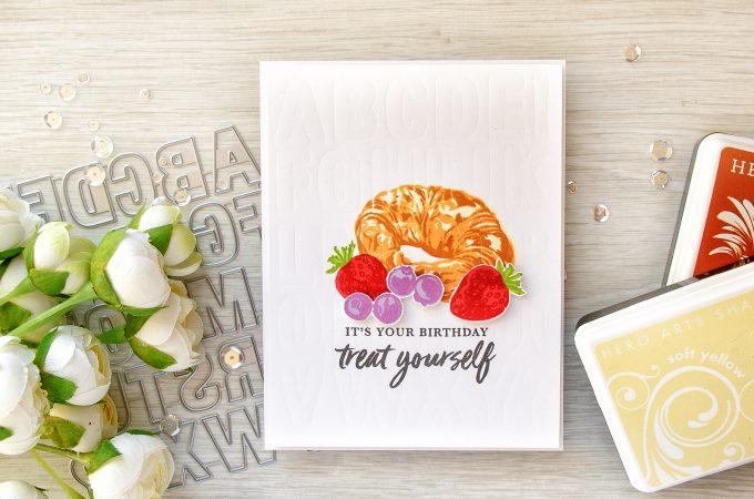 Hero Arts | Color Layering Croissant - Birthday Card by Yana Smakula