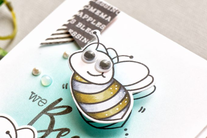 Honey Bee Stamps | Interactive Wobbler Bee Card. Video