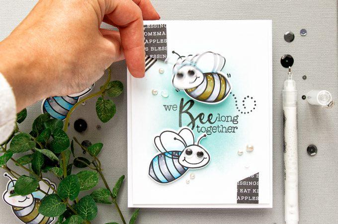 Honey Bee Stamps | Interactive Wobbler Bee Card. Video