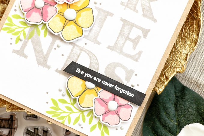 Simon Says Stamp | Friends Like You Are Never Forgotten Card by Yana Smakula using SSS Sketched Alphabet and Friends of Life Stamp Sets