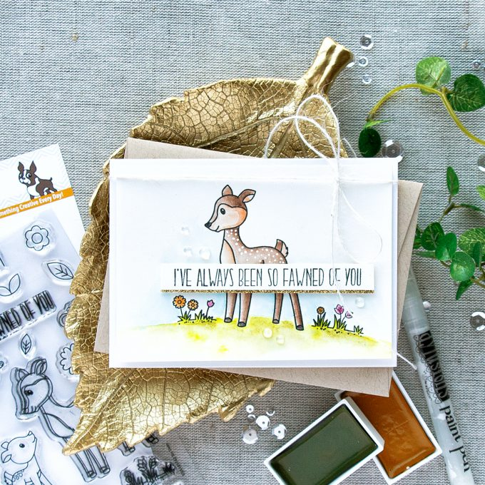 Simon Says Stamp | I've Always Been So Fawned Of You Watercolor Card by Yana Smakula
