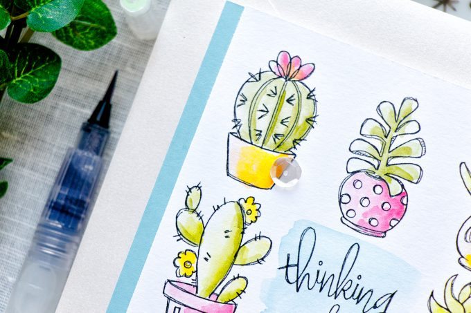 Simon Says Stamp | May Card Kit - Cacti Thinking Of You Card