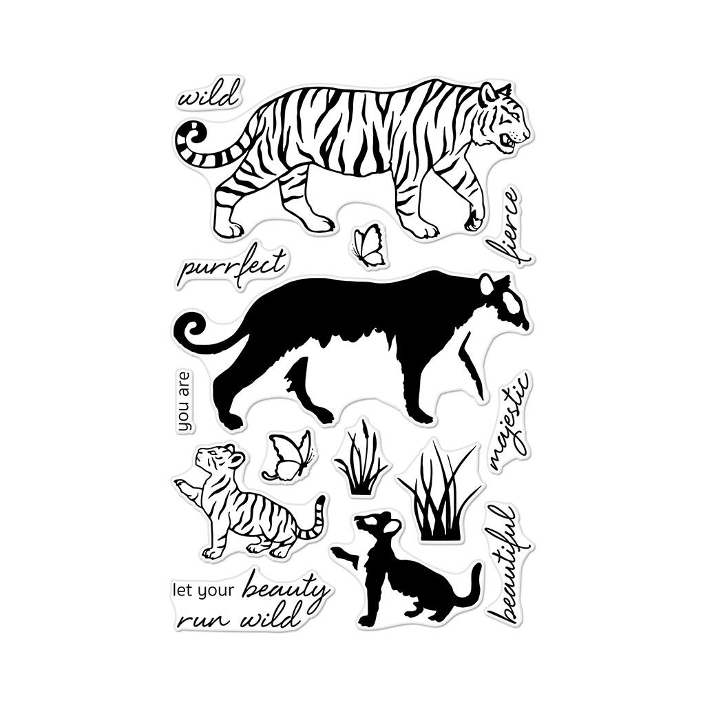 Hero Arts Coloring Layering Bengal Tigers Stamp set