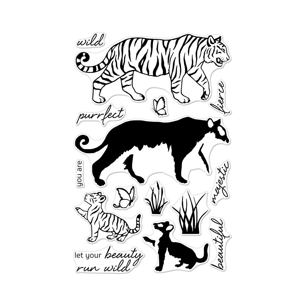 Hero Arts Coloring Layering Bengal Tigers Stamp set