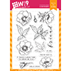 WPlus9 Modern Anemones Stamp Set