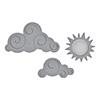 Spellbinders Die D-lites Sun and Clouds Etched Dies