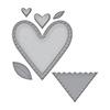 Spellbinders Die D-lites Hearts Etched Dies