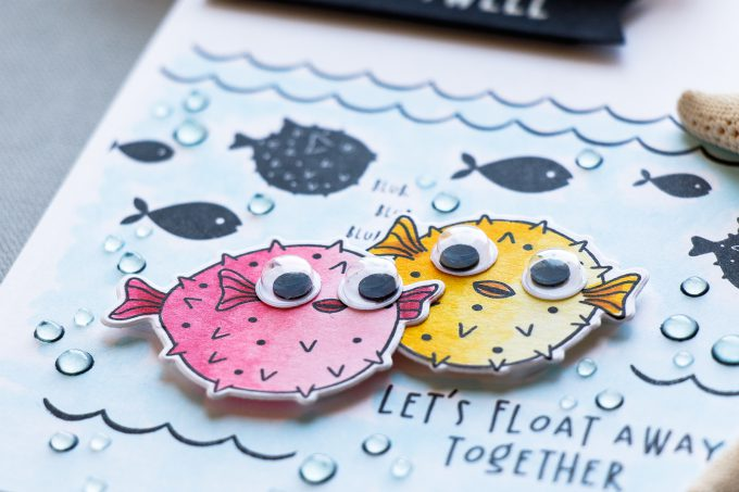 Hero Arts | Funny Puffer Fish Cards - Let's Float Away Together