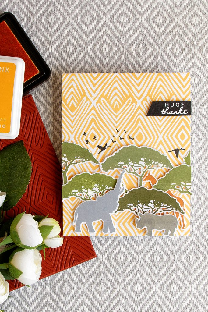 Hero Arts | Safari Huge Thanks Card. June My Monthly Hero Kit. Card by Yana Smakula